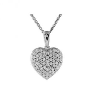collier coeur zircon