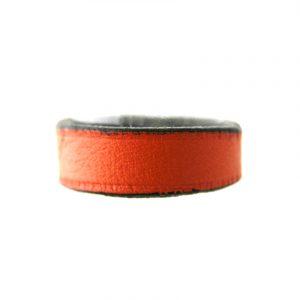 Bague Irène T orange en cuir fin - Taille du 56 au 58