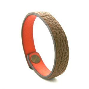 Bracelet en cuir marron - Irène T