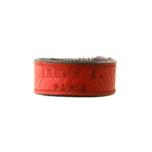 Bague Irène T rouge ou orange en cuir – Taille du 46 au 48