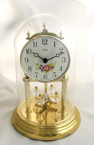 Pendule 400 jours fleurie et cristal Swarovski - Neuve