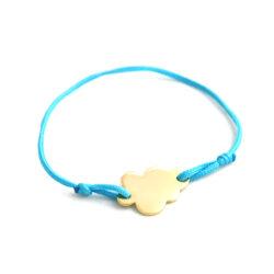 bracelet à graver nuage bleu