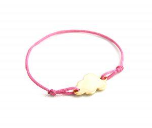 bracelet à graver nuage rose