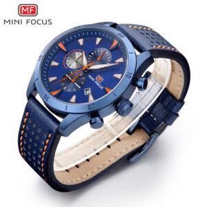 MINI FOCUS Montre Homme Chronographe bleu MF0011G