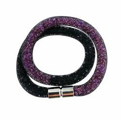 bracelet résille double tour violet